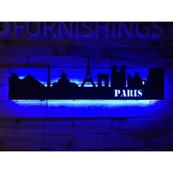 Paris City Skyline - Wall Decor