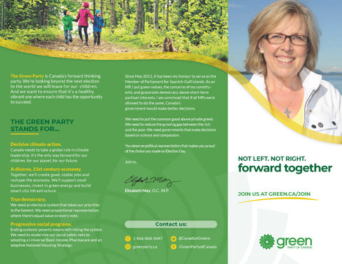 Join the Green Party Custom Trifolds -  Rejoignez le Trifolds Personnalisé du Parti Vert