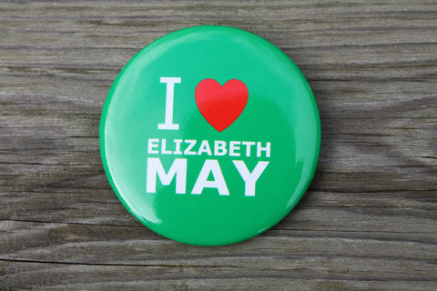 I Love E May Button