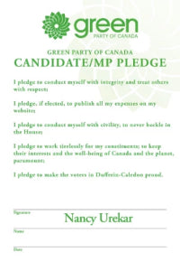 Candidate Pledge Sign