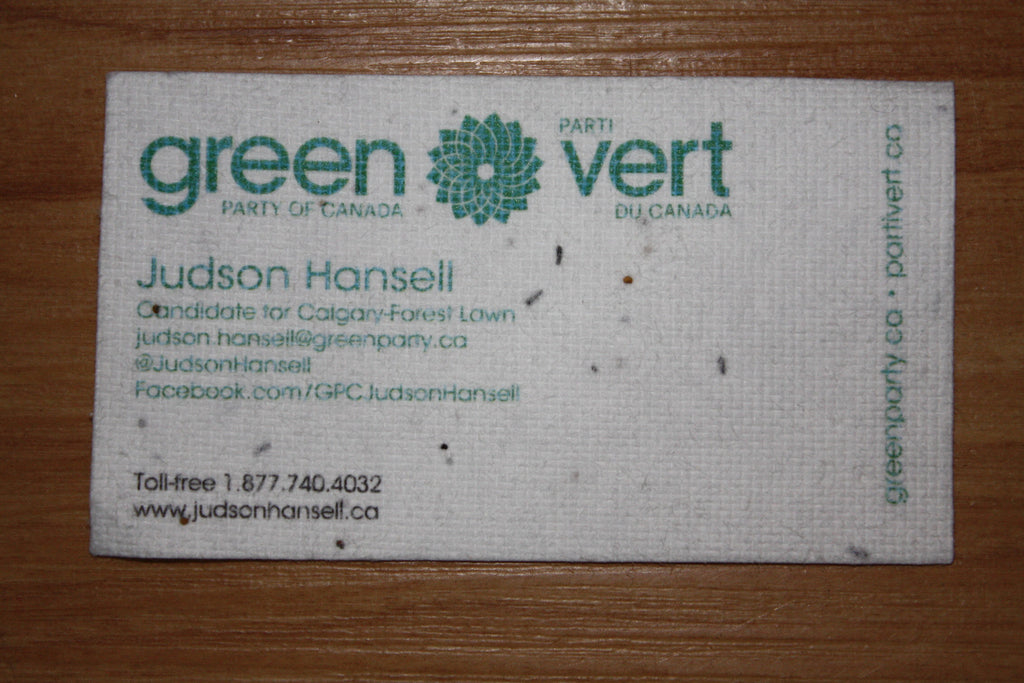 Seed Paper Business Cards – GPC Gear