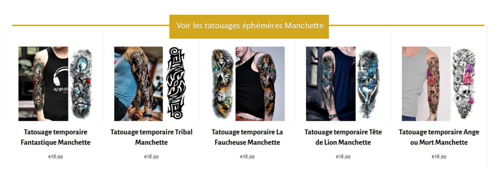 tatouage ephemere manchette