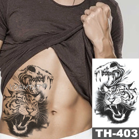 Tatouage éphémère Animal Féroce - 21-TH403
