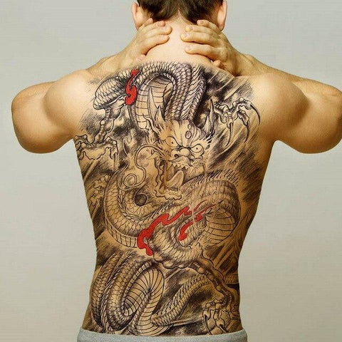 Tatouage temporaire Grand Dragon Dos