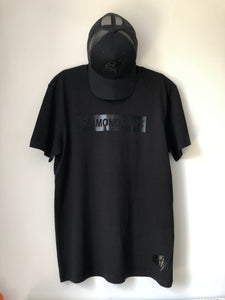 Official Diamond Drips black on black letterbox Tee