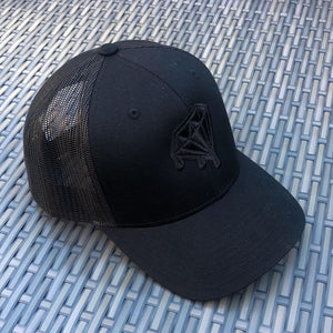 Diamond Drips Black Trucker Cap