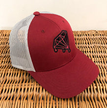 Load image into Gallery viewer, Diamond Drips Burgundy Trucker Hat