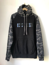 Load image into Gallery viewer, Official Diamond Drips black camo letterbox  hoodie