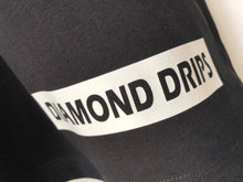 Load image into Gallery viewer, Official Diamond Drips white on black diamond Tee