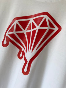 Official Diamond Drips white with red letterbox Tee