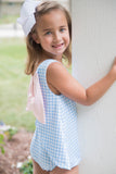 Lottie Big Girl Swim - Blue Check Swim Collection