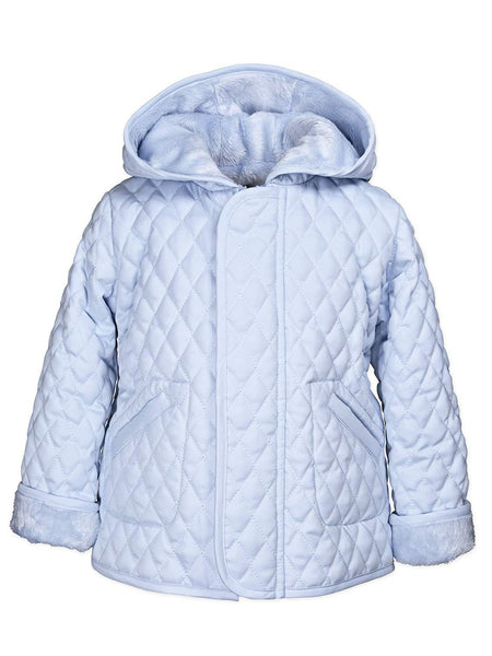 Widgeon Light Blue Hooded Barn Jacket (size 3)