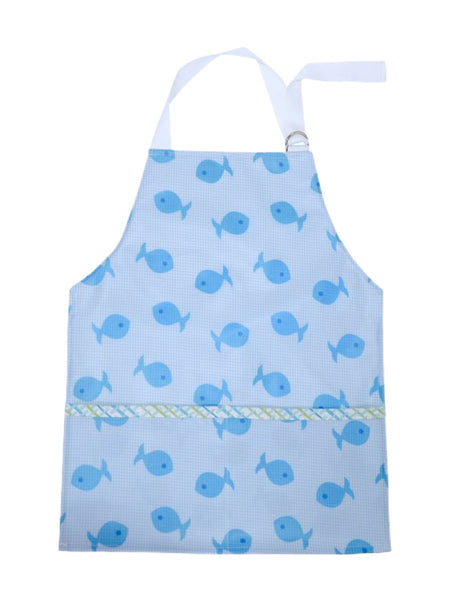 Blue Fish Toddler Smock/Apron