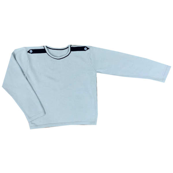 All Weather Sweater - Lt Blue/Navy Tabs (Size 5)