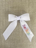 Small Hand Embroidered Bow