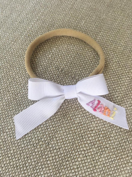 X-Small Hand Embroidered Bow (after Easter Delivery)