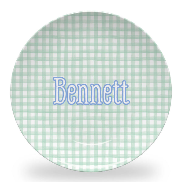 Mint Green Gingham Tableware