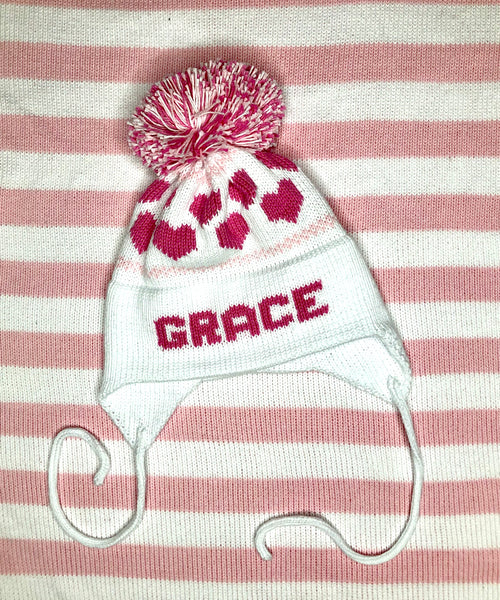 Custom Knit Heart Earflap Hat