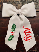 Medium Hand Embroidered Bow (after Easter Delivery)