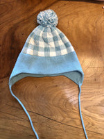 Custom Knit Plaid Earflap Hat