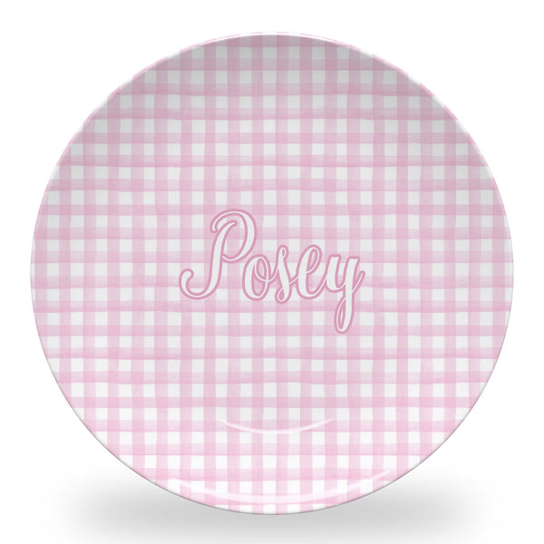 Pink Gingham Tableware