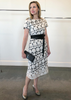 Carriage House Anett Röstel Short Sleeve Circle Dress in Black and White.