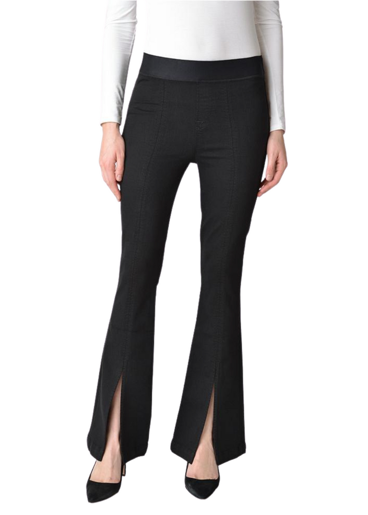 J Brand Estellah black pant with slit flare in front