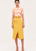 Carriage House C/MEO Collective Yellow A-Line Cargo Skirt