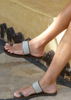Silver Sandal with Toe Ring