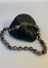 Carriage House Black Baroque  Pearl Necklace with Gold Toggle Hardware