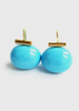 Carriage House Large Turquoise Pebble Pearl Earring with Gold Hardware.