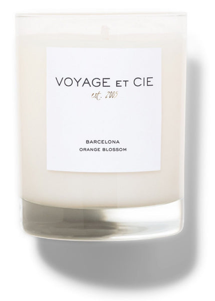 "Voyage et cie 4"" Highball scented candle in Orange Blossom Packaged in Black Box"