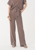 Carriage House Diane Von Furstenberg Wide Leg Sonia Pant with attached Belt in Window Ivory