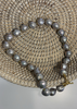 Carriage House Grey Baroque Pearl Necklace with Gold Toggle Hardware