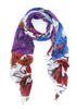 Carriage House Christina Scarf Fresh Cut Flowers Pink Purple Red Orange white Suzi Roher