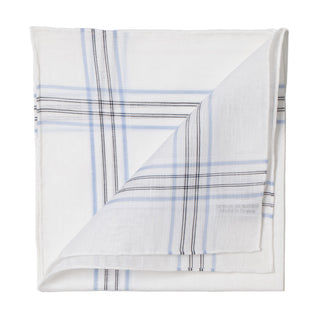 White patterned pocket square made of linen and cotton