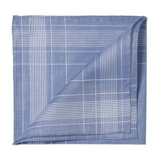 Blue patterned cotton handkerchief
