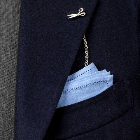 "Exklusiv für Michael Jondral: ""Lapel Chain - ""The Cutter"" aus Sterling Silber"
