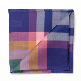 "Colorful patterned cotton pocket square ""Aspen"""