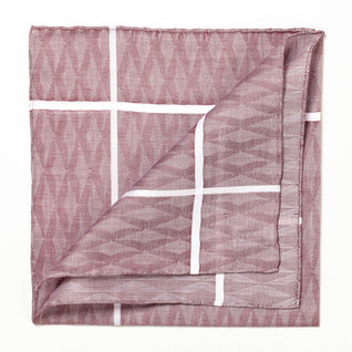 Burgundy patterned cotton handkerchief