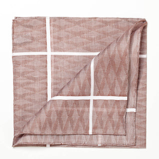 Brown patterned cotton handkerchief