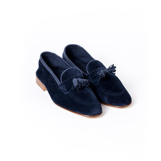 Loafer made of unlined dark blue calf suede - Portland 389
