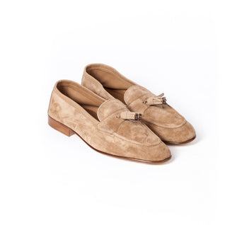 Loafer made of unlined sand calf suede - Portland 389