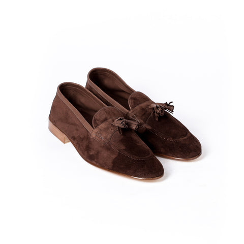 Loafer made of unlined brown calf suede - Portland 389