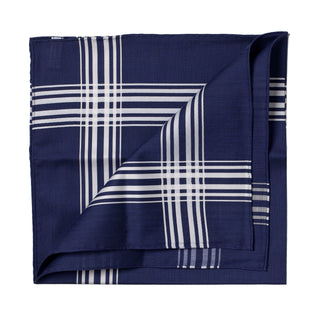 Dark blue patterned cotton handkerchief