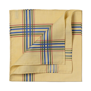 Yellow patterned cotton handkerchief