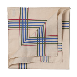 Beige patterned cotton handkerchief