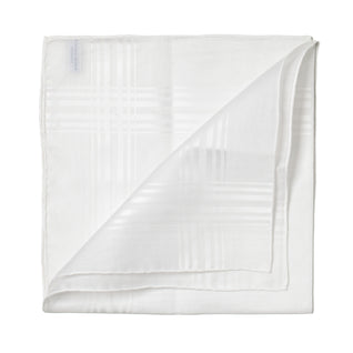 White patterned cotton handkerchief