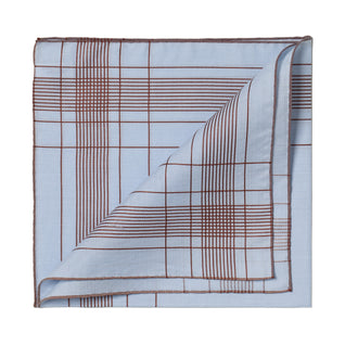 Light blue patterned cotton handkerchief