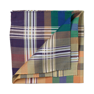 Colorful patterned cotton pocket square